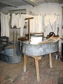 Waschzuber und Waschbrett