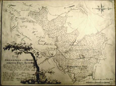 Plan von dem Heiligensee und Hermsdorfer Forst