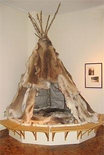 Rekonstruktion eines Nomadenzeltes