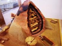 Modell eines Teerofens