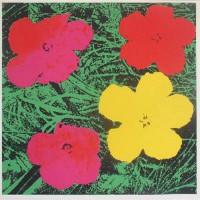 Andy Warhol: Rote Blumen, Siebdruck, 1964