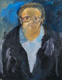 D.Ruckhaberle,Selbstportrait,1986,Foto:Friedhelm Hoffmann