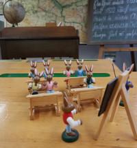 Hasenklasse im Historischen Klassenzimmer, Foto Claudia Wasow-Kania © Museum Reinickendorf